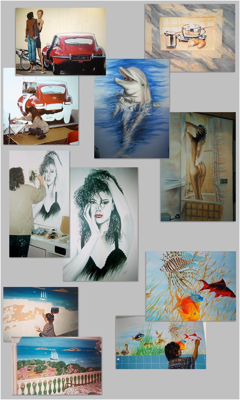Wandmalerei innenr ume evelina iacubino kunst in farbe malerei gem lde - Wandmalerei wohnzimmer ...